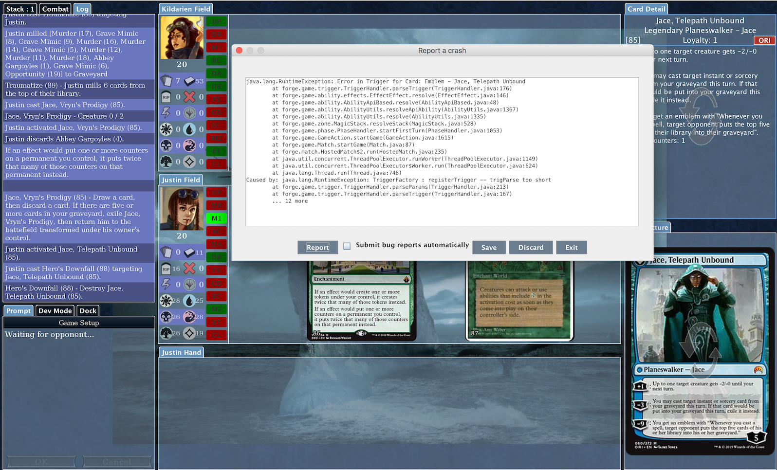 Collectible Card Game Headquarters • View topic - Bug Reports